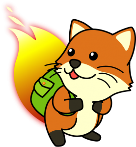 foxkeh, the Japanese Firefox mascot by Mozilla