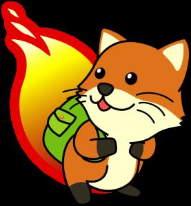 foxkeh, the Japanese Firefox mascot by Mozilla